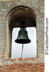 Single Mission Bell in Southern California Spanish Mission