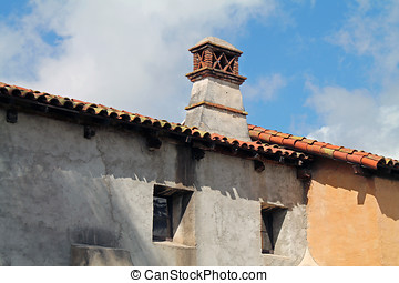 Exterior of Spanish Mission in Southern Callifornia