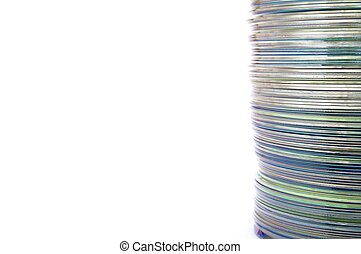dvd group stacked on a white background