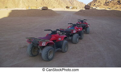 Tourist Quads Bike for a Safari Excursion in the Desert of...