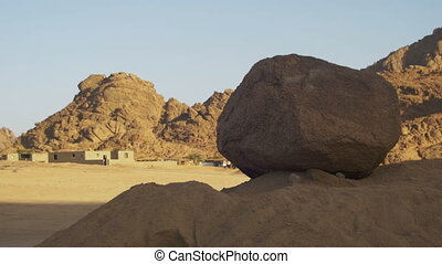 Desert in Egypt, Sand, Mountains and Bedouin Settlements....