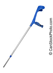 crutch - a medical crutch isolated on white background