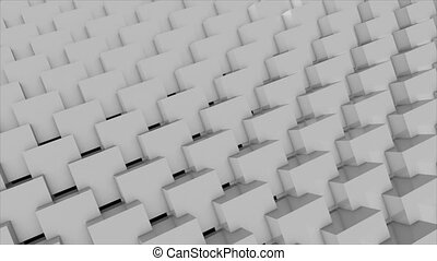 Abstract background with cubes. Seamless loop