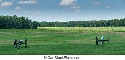 Cannons At Malvern Hill - Cannons at the Malvern Hill...