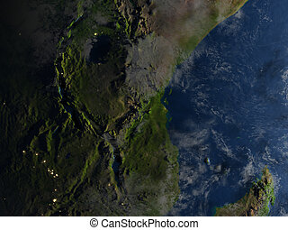 Great lakes of Africa at night on planet Earth - Great lakes...