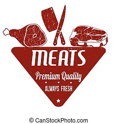 Meats sign or stamp