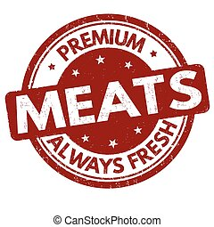 Premium meats sign or stamp