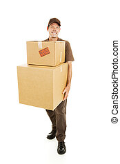Strong Delivery Man - Delivery man or mover carrying heavy...