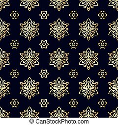 Gold flower seamless pattern. Texture for scrapbooking,...