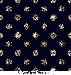 Seamless pattern with gold Bee - Gold flower seamless...