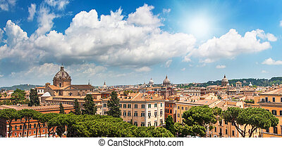 Spring blue sk above Rome - Spring blue sky with bright sun...