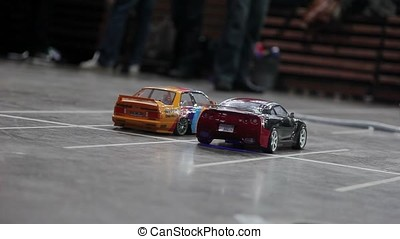 RC drift cars - Two RC drift cars indoors