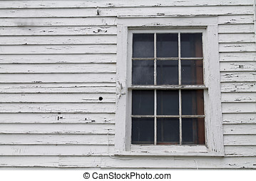 Closeup of a Window in an Old House