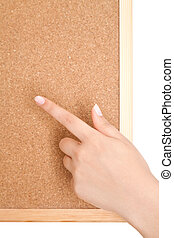 Human Hands Holding Empty Blank Board Over White Background - Ready for adding your text here