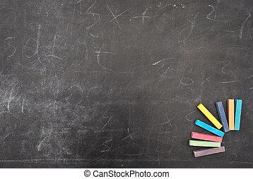 Farbe, tafelkreide, Schule, Brett