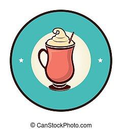 delicious milkshake drink icon vector illustration design