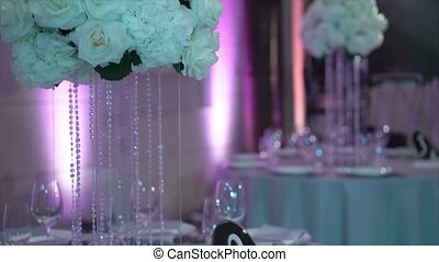 Restaurant decoration for wedding
