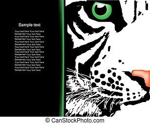 White tiger head. Vector - White tiger (zodiac symbol of...