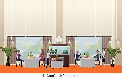 Good restaurant concept vector illustration in flat style -...
