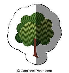 color sticker natural tree icon
