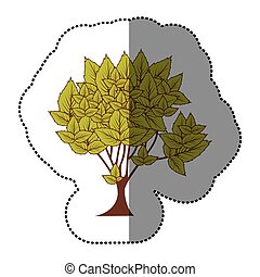 lime green natural tree icon, vector illustraction design...