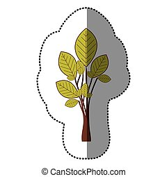 lime green stylized tree icon, vector illustraction design...