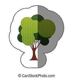 color set of abstract tree icon