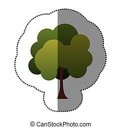 color stamp natural tree icon