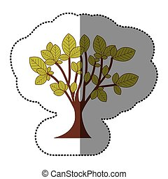 lime green tree art icon, vector illustraction design image