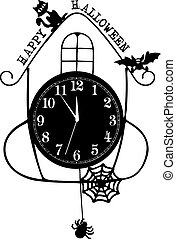 Abstract clock for Happy Halloween
