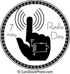 Abstract symbol of Radio Day
