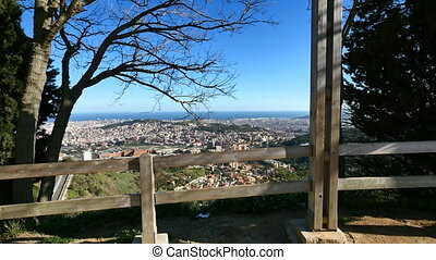 Barcelona City Panoramic View from Tibidabo