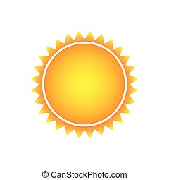 color beautiful sun abstract icon