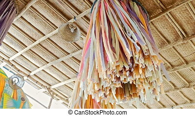 Wedding Canopy Decorated with Colorful Tassels - wind shakes...