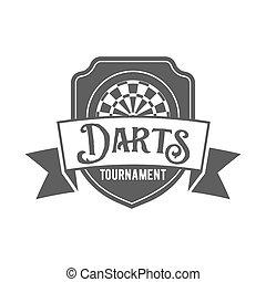 Darts label, badge, vector logo - Vintage darts label,...