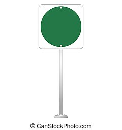 Blank Road Sign Board vector - image of Blank Road Sign...