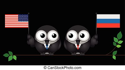 American Russian Leaders - Comical American and Russian...