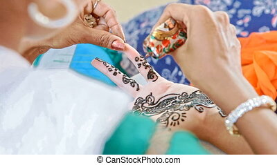 Macro Master Draws Patterns with Henna on Fingers in India -...