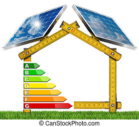 Energy Efficiency - House with Solar Panels