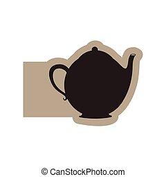 black contour teapot icon