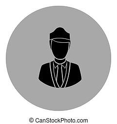 blue emblem guard person icon