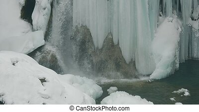 Plitvice lakes waterfall detail - Waterfall detail of the...