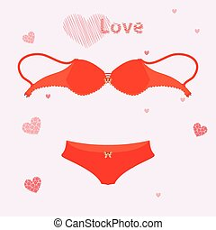 bra for love underwear. illustration