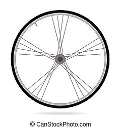 Bike wheel - vector illustration on white background - image...