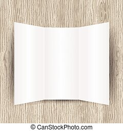 blank paper on wood background 0902