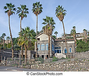 Old basalt house in Tiberias