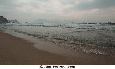 Misty Morning Ocean Waves Vietnam - A misty morning...