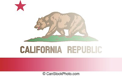 California State Flag Fade Background