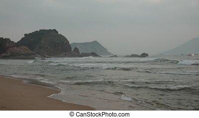 Rocky Outcrop Ocean Waves Vietnam - A rocky outcrop...