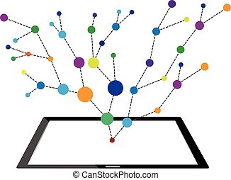Concepts of internet networking technology into tablet
